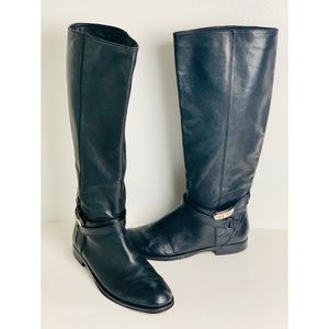 COACH Christine 108 Black Leather Riding 10 Boots